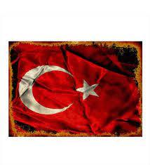 Ahşap Tablo Dalgalanan Türk Bayrağı- Çiçeksepeti