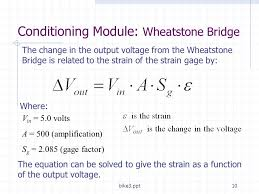 bike3 ppt10 the change in the output voltage from the wheatstone bridge is to