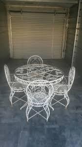 wrought iron patio set ornate vintage