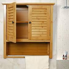 bamboo bathroom wall cabinet yi