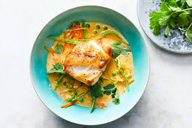 grouper fillets with ginger and coconut