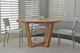 custom made angled leg round dining table