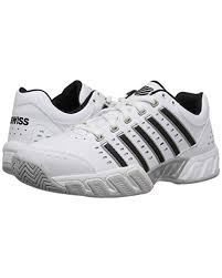 K Swiss Bigshot Light Tennis Shoe In White Black Silver