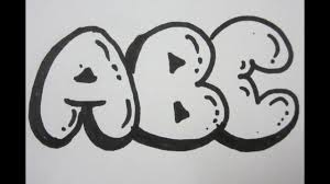 Bubble Letter Designs How To Draw Bubble Letters All Capital Letters