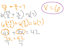 solving multi step equations with fractions method 1 and 2 math