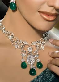 Image result for emerald necklace and earrings set