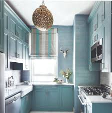 blue seagrass wallpaper kitchen with light grasscloth