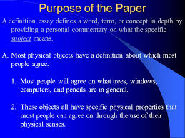 extended definition essay ppt 17 purpose of the paper a definition