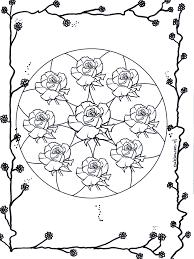Rozen Mandala 2 Bloemenmandalas