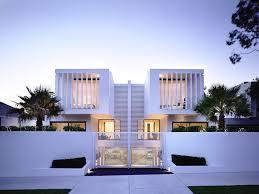 modern home design. White Facade At The Sunset Modern Home Design S