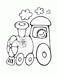Old Steam Locomotive Engine Train Station Coloring Page