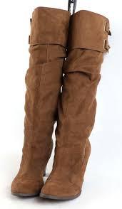 zara womens eu size 37 brown leather knee high boots