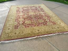 vintage indian agra oriental rug carpet 96 x 120 3 fringes each