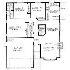 brilliant 3 bedroom bungalow house designs floor plan 3