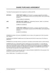 Purchase Agreement Samples Shareholder Purchase Agreement Sample