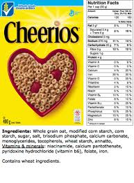 cheerios nutrition ings label