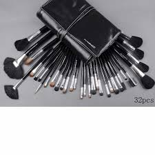 32 piece mac makeup brush set with leather pouch middot whole