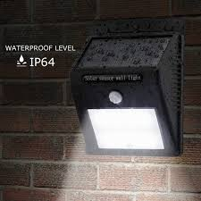 ip65 led solar light garden wall light with pir sensor outdoor wall lamp