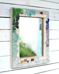 sea glass mirror mosaics phoenix handcraft memory bed bath mosaic home depot
