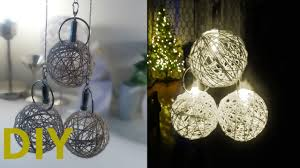 diy yarn ball lights decoration battery operated