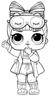 Lol Dolls Coloring Pages Printable Coloring Page For Kids