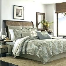 palm tree pattern bed sheets comforter bedding green white orange king