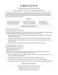Sample Of Electrician Resumes Journeyman Electrician Resume Sample Monster Com