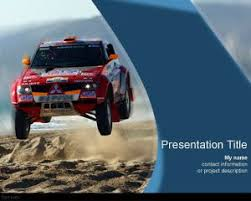 Rally Templates Dakar Powerpoint Template