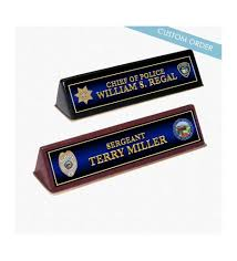 custom wood acrylic desk name plates free police patch plaques