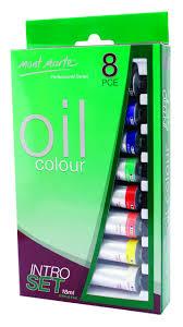 Mont Marte Intro Paint Set Professional Oil Paint 8pc X 18ml