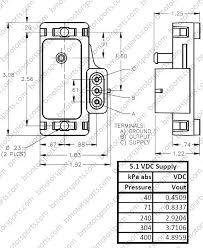 home shop sensors pressure sensors delphi gm 4 bar style 4 bar gm style map sensor dimensional drawing
