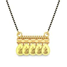 lakshmi gold mangalsutra pendant jewellery ping india yellow gold 22k candere by kalyan jewellers