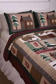 Lodge Winter Cabin in the Woods Cotton Quilt | Cabin Decorating ... & Lodge Winter Cabin in the Woods Cotton Quilt Adamdwight.com