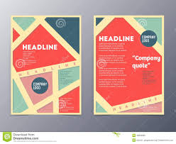 Retro Brochure Template Retro Color Table Style Flyer Template Stock Vector Illustration 1