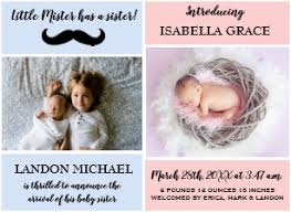 Sibling Birth Announcement Sibling Birth Announcement Cards Zazzle Co Uk