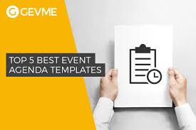 Meet And Greet Meeting Agenda Top 5 Best Event Agenda Templates