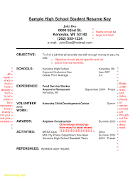 Sample Resume Objectives For High School Graduates Valid High School