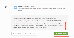Orientation Feedback Form Inspiration Adding A Feedback Button To Blogger JotForm