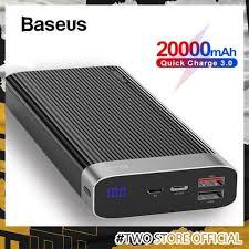 Pin Sạc Dự Phòng Nhanh Baseus USB Type-C PD + 3.0 Dành Cho iPhone Huawei  20000mAh chính hãng