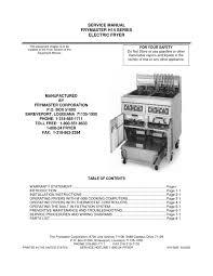 manual freidora frymaster by destinos ayj issuu manual freidora frymaster
