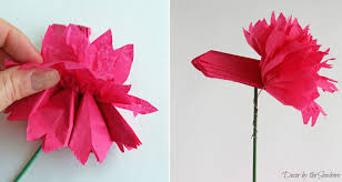 How To Make Flower From Tissue Paper Diy Tissue Paper Flowers Tutorial Decor By The Seashore