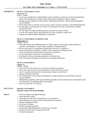 Download Digital Publishing Resume Sample as Image file