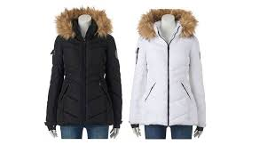 head over to kohl s for an awesome deal on the junior s madden girl hooded faux fur puffer jacket it is on for 49 99 down from 100 00