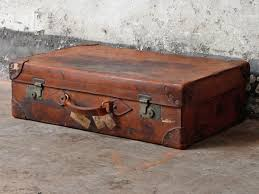 Antique Leather Suitcase by Cleghorn