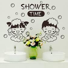get quotations wall stickers sticker boys and girls bathing bathroom tile bathroom washbasin wash waterproof cute cartoon couple