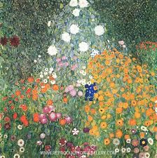 Flower Garden 1907 Painting By Gustav Klimt - Reproduction Gallery