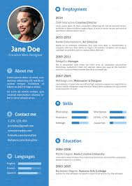 Stylish Flat Resume - Resumes Stationery. 01_Blue.jpg .