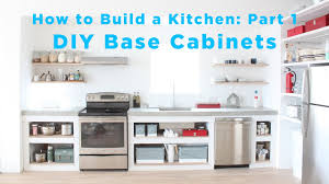 The Total Diy Kitchen Part 1 Base Cabinets Youtube