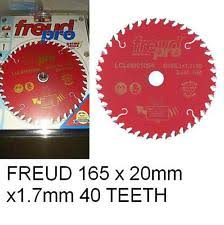 freud blades. freud pro lcl6m01064 tct trim saw blade 165mm x 20 40 tooth lcl6m 01064 blades