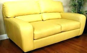 yellow leather sofa couch for
